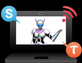 SkypeやTangoという動画アプリを使用