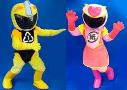 ご当地ヒーロー「シゲンジャーイエロー、ピンク」